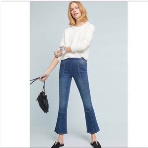 Anthropologie Pilcro Utility High-Rise Crop Jeans